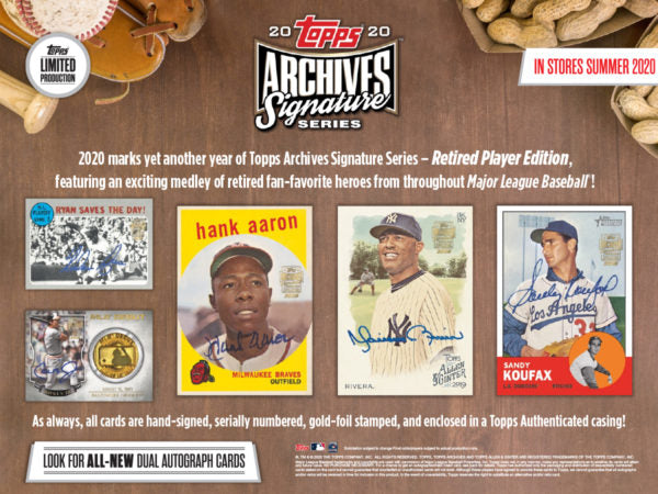 PLAYER CHECKLIST BREAK: 2020 Topps Archives Signature Series Retired Player Ed Baseball Box ID 20ARCHRETSEP116