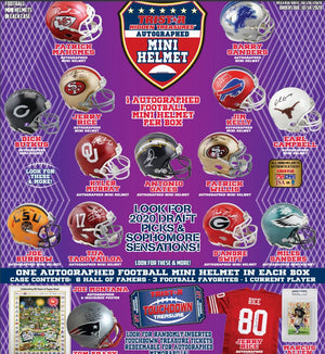 2 RANDOM TEAMS: 2020 Tristar H/T Football Mini Helmet Series 2 ID 20TRIMINI109