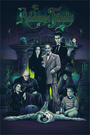 WEIRD IS RELATIVE by Vance Kelly Limited Edition Print ID ADDAMSFAMILY101
