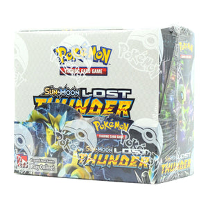 2 INSTANT PACK RIPS: Pokemon Sun & Moon: Lost Thunder Booster Box ID POKETHUNDER102
