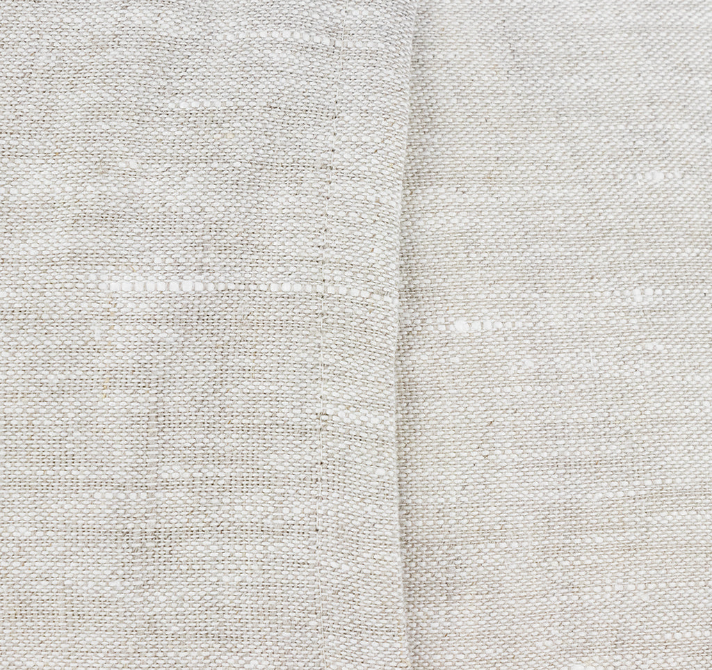 Enveloped back of sustainable linen cushion cover