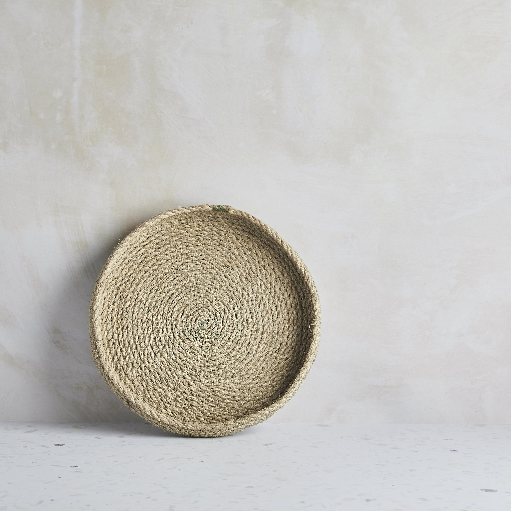 Woven jute eco-twist trinket tray