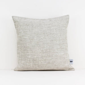 Natural linen, square cushion cover in beige