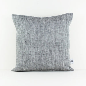 Square, marl grey linen cushion