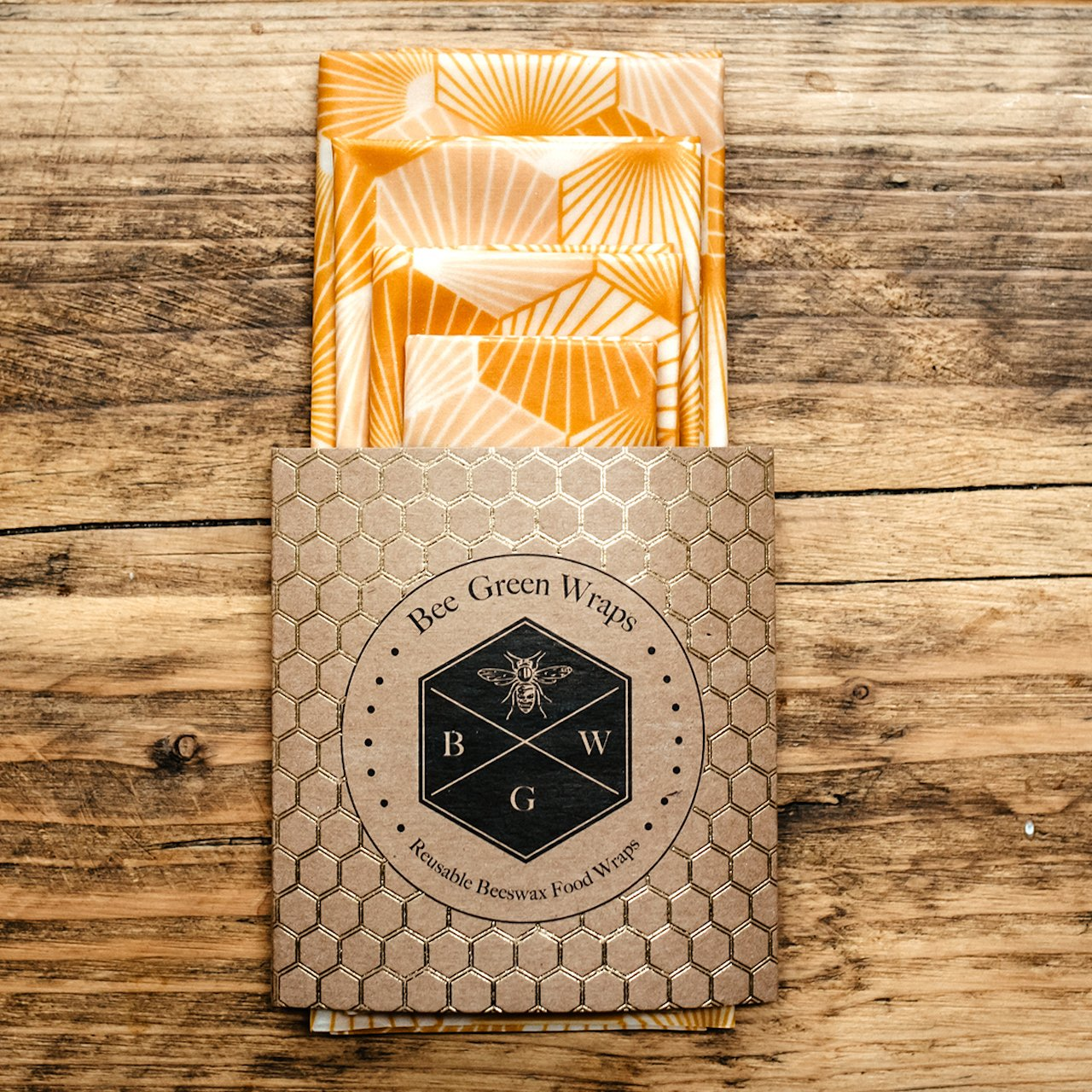 Beeswax Wrap Starter Pack, Hexagonal