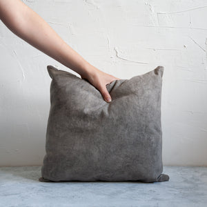 Naturally dyed cushion cover in dark pebble/slate grey