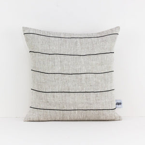 Linen Cushion Cover, Black Stripe - HUNDRED ACRE STUDIOS