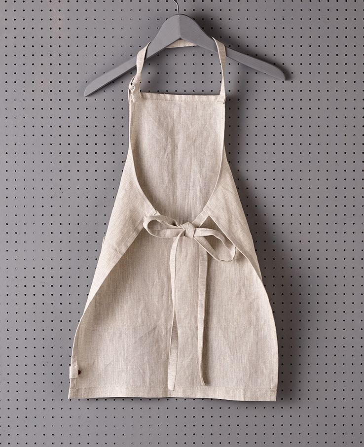 Children's Classic Bib Apron, Natural