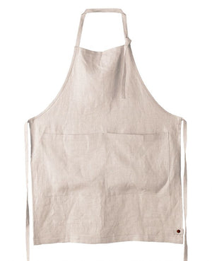 Classic Linen Bib Apron, Natural - HUNDRED ACRE STUDIOS