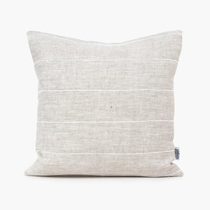 Linen Cushion Cover, White Stripe - HUNDRED ACRE STUDIOS