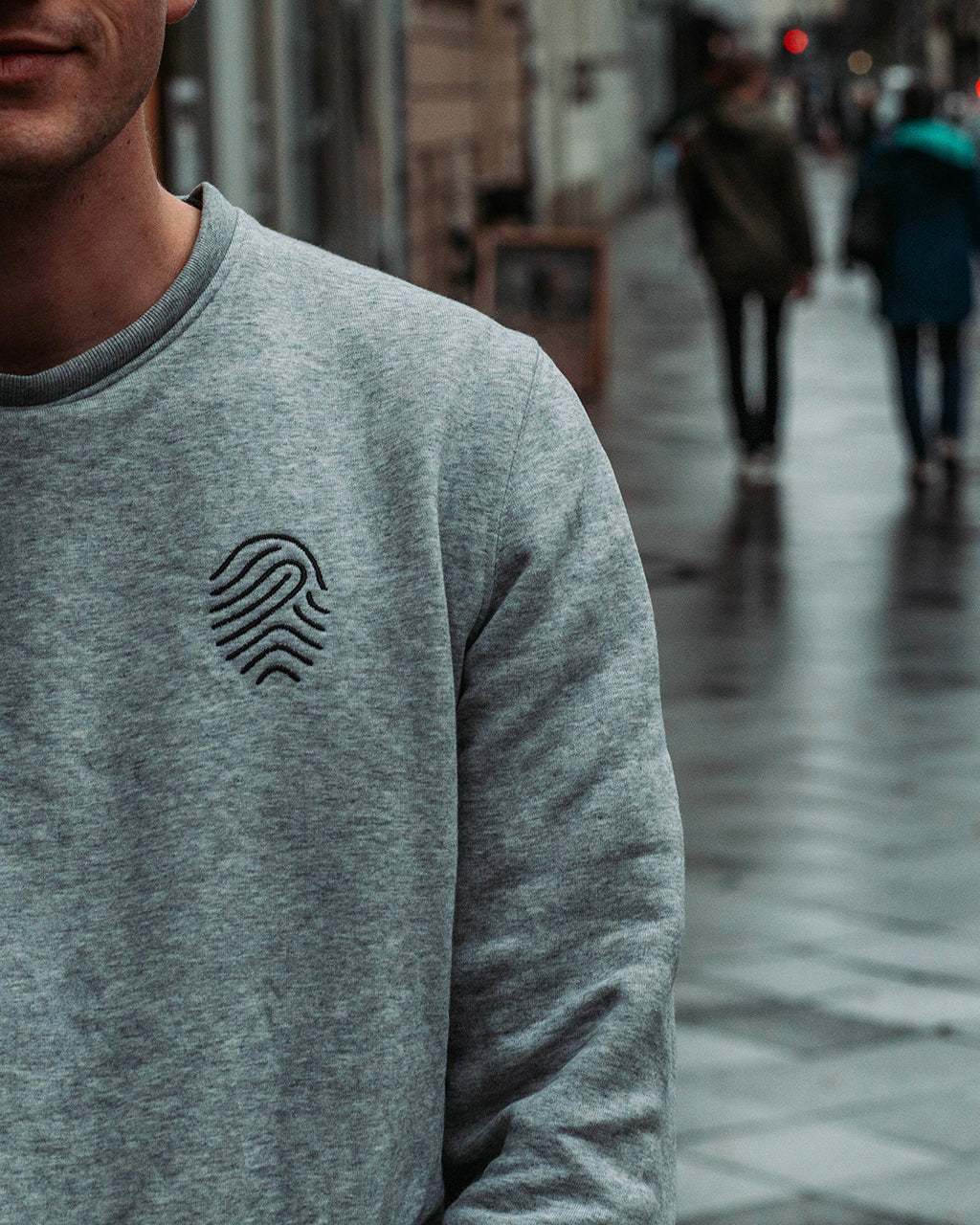 FINGERPRINT Sweater (Grau)