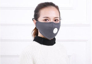 Open image in slideshow, Face Masks with Dust and Smog Protection comes with air filter respirator