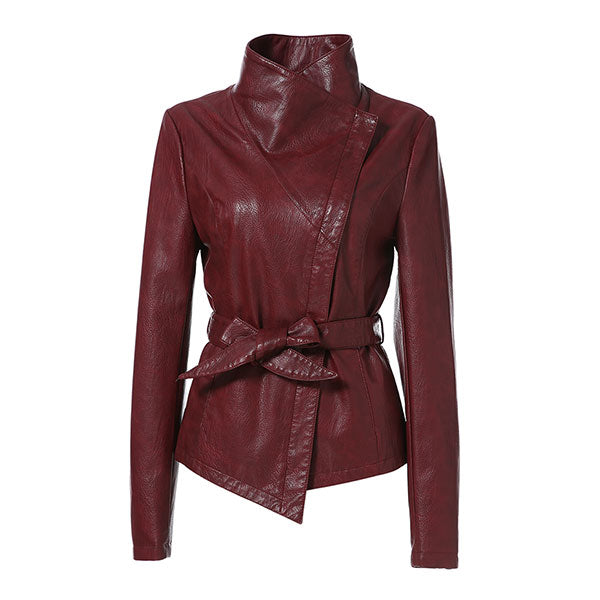 Slim Style Fashion Faux Leather Jacket