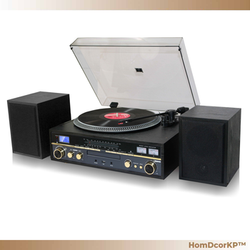 TechPlay 3 Speed Turntable n Multi Media Combo Audio System