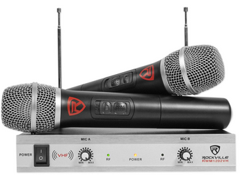 EleGdjtKP™ Wireless Dynamic Handheld Microphone System w/ VHF Receiver