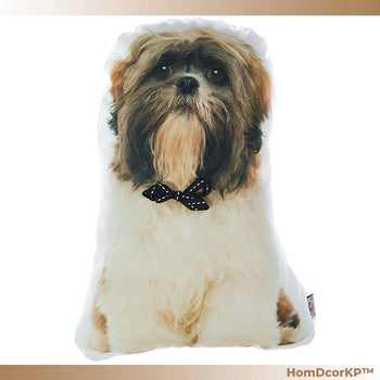 HomDcorKP™ Shih Tzu Dog Shape Filled Companion Throw Pillow Home Buddy