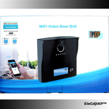Wireless Video Doorbell + Ringtone Speaker W/ Smartphone App