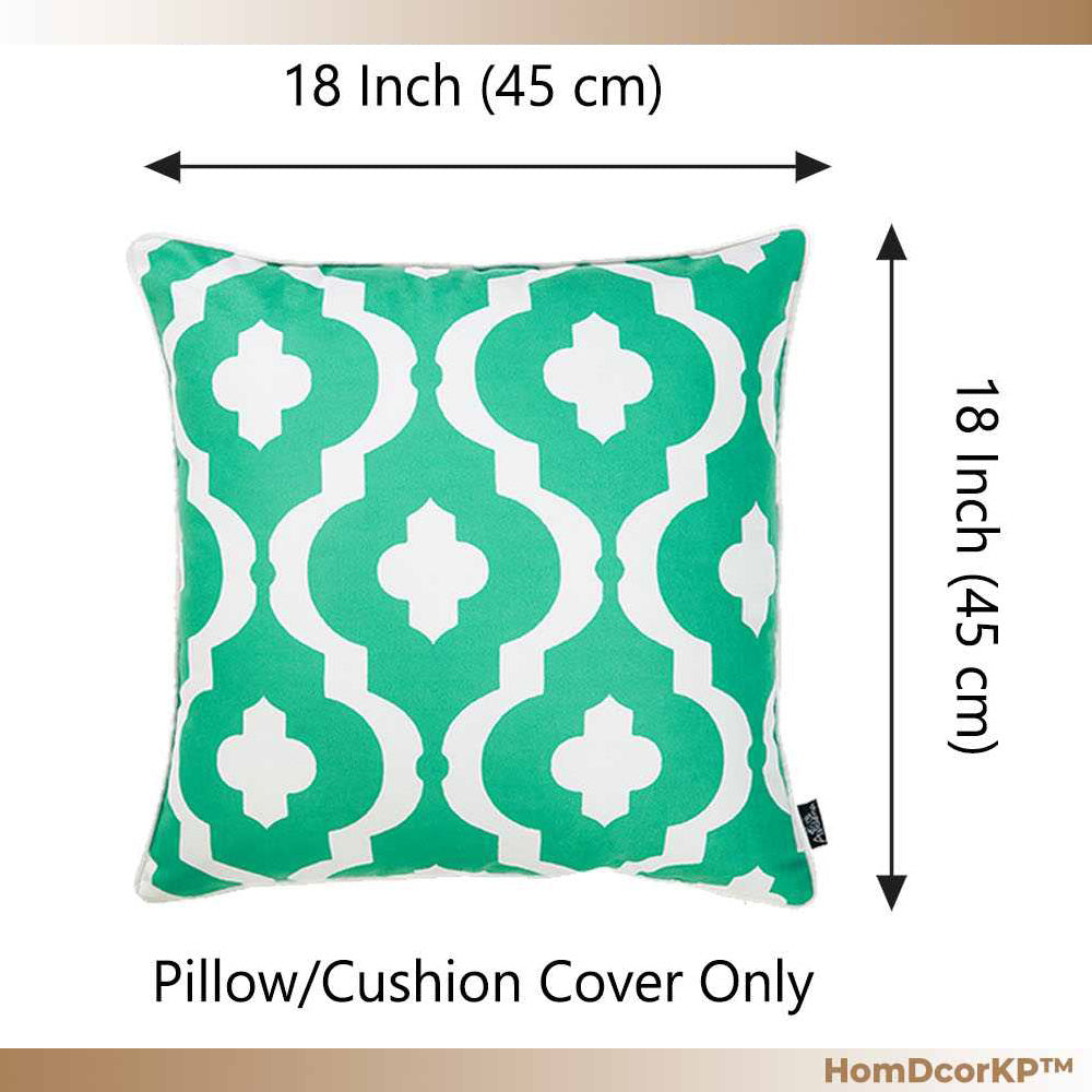 Decorative Throw Pillow Cover with Turquiose Moroccon stars