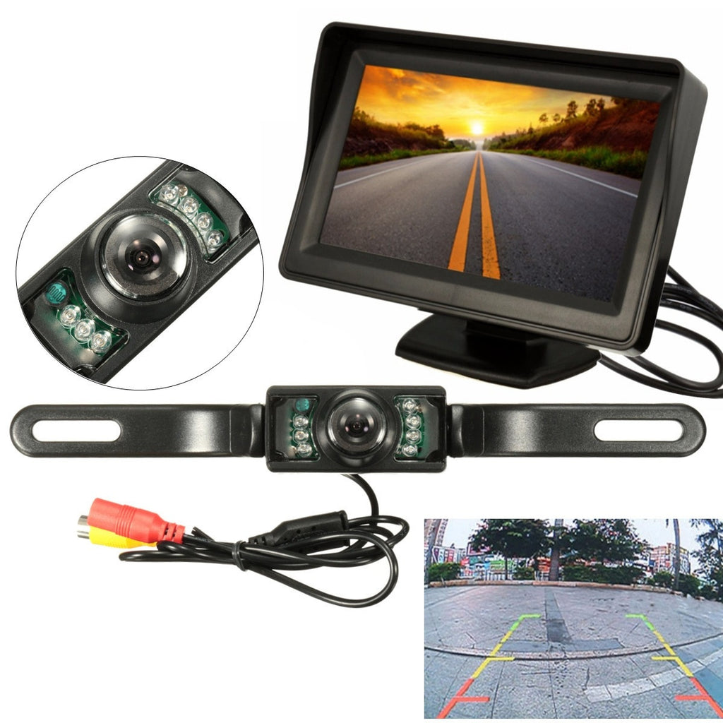 Waterproof Reverse Gear Display Camera Car Kit w/Night Vision