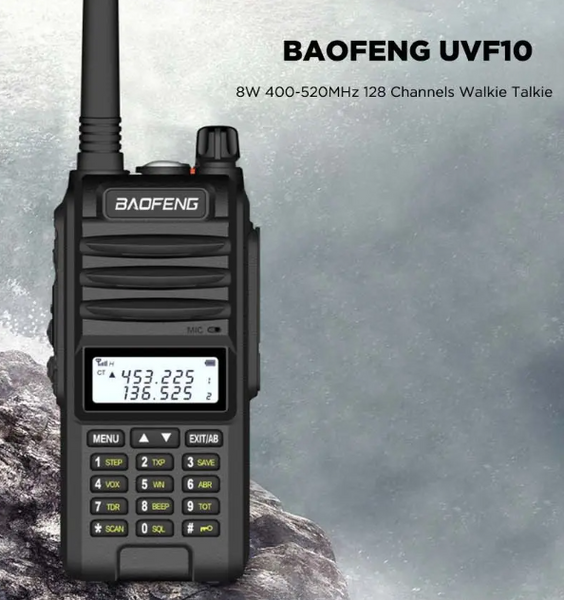 Waterproof Multifunction Handheld Radio Walkie Talkie 128CH8W