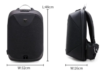 Anti-theft Waterproof Custom Lock Laptop Backpack Travel Bag