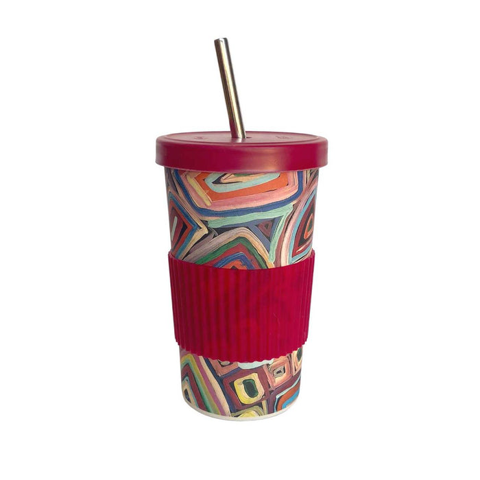 Large Tumbler Straw/Lid-Janelle Stockman Pastel