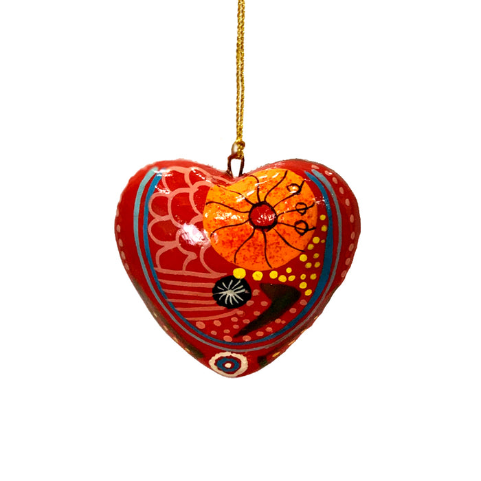Decorative Heart Christmas Ornament Damien & Yilpi Marks