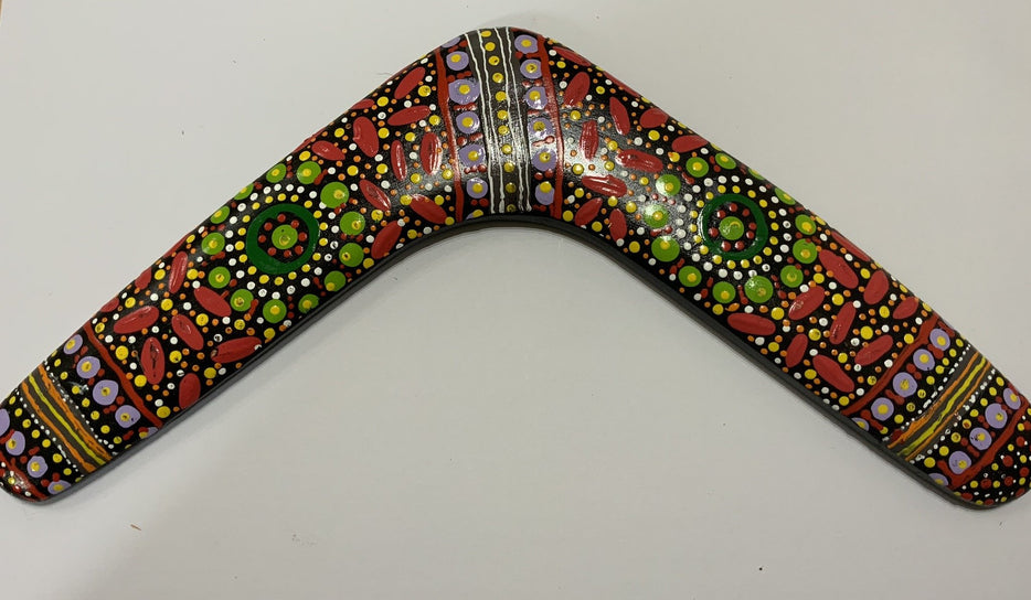 Boomerang Hand Painted Ceramic – Keringke Arts