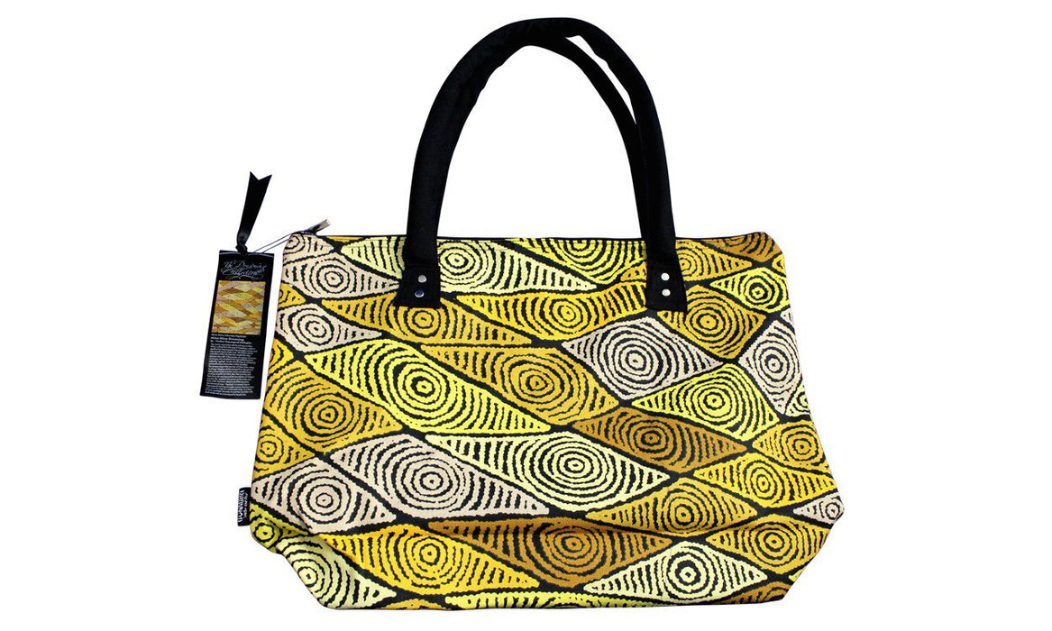 Large Canvas Bag Pauline Napangardi Gallagher