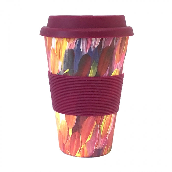 Bamboo Eco Travel Cup Gloria Petyarre - Purple