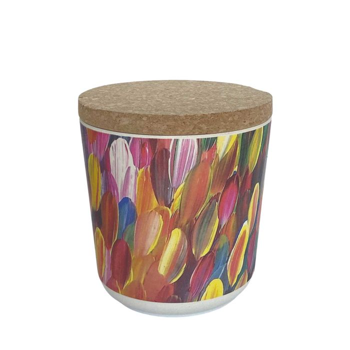Bamboo Food Canister Small - Gloria Petyarre
