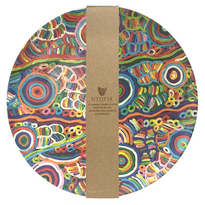 Bamboo Plate Set Betty Mpetyane - Multi