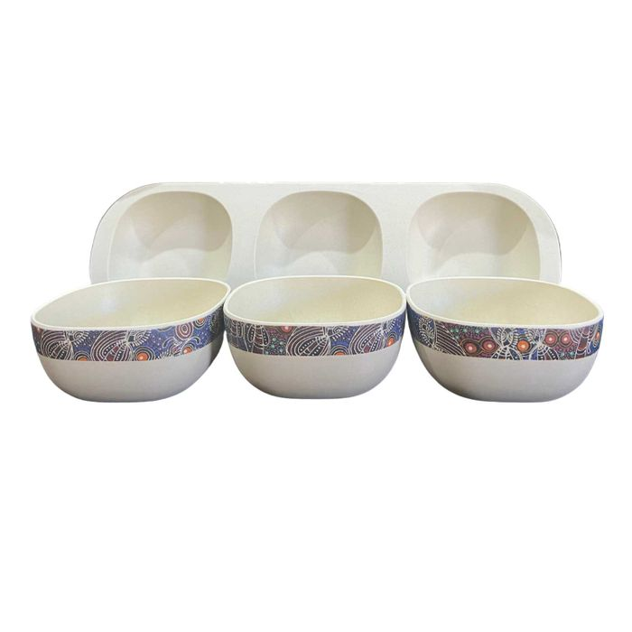Bamboo Snack Bowl Set Colleen Wallace