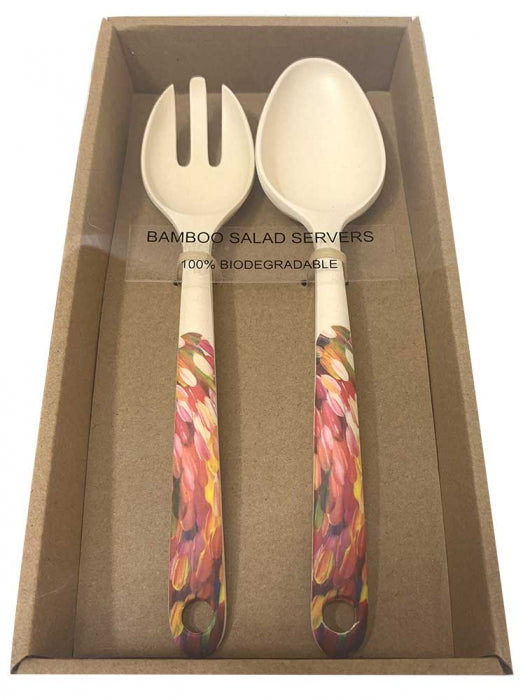 Bamboo Salad Server Gloria Petyarre