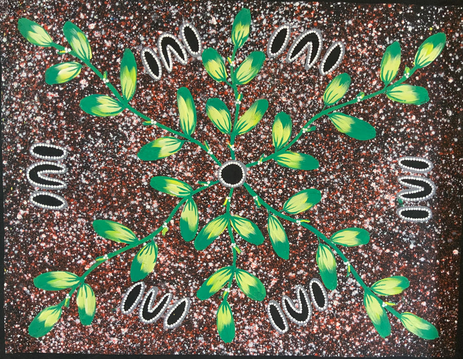 Reggie Sultan - 90x70cm - Bush Fruit Dreaming  .12-1