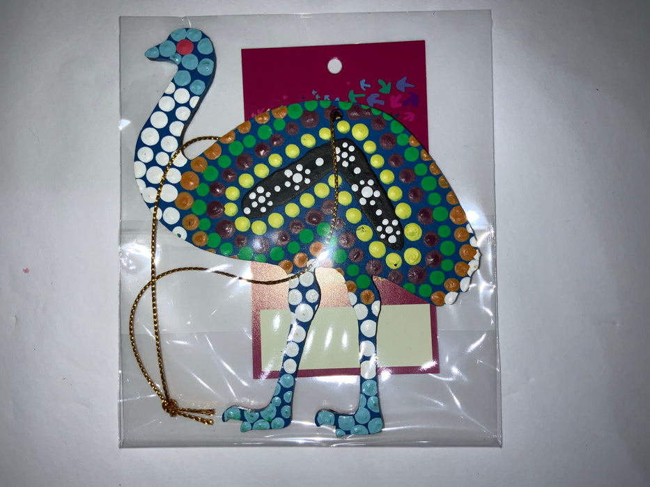 Hand Painted Decoration - Emu  .1