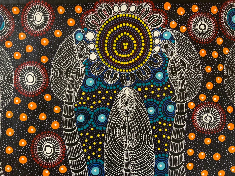Colleen Wallace Nungarray - Dreamtime Sisters - 90x60cm