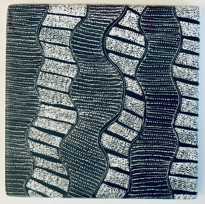 Ceramic Coaster - Lanita Numina - Mud Cracks