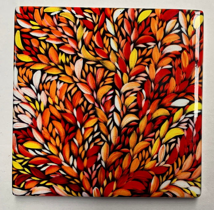 Ceramic Coaster - Louise Numina Orange