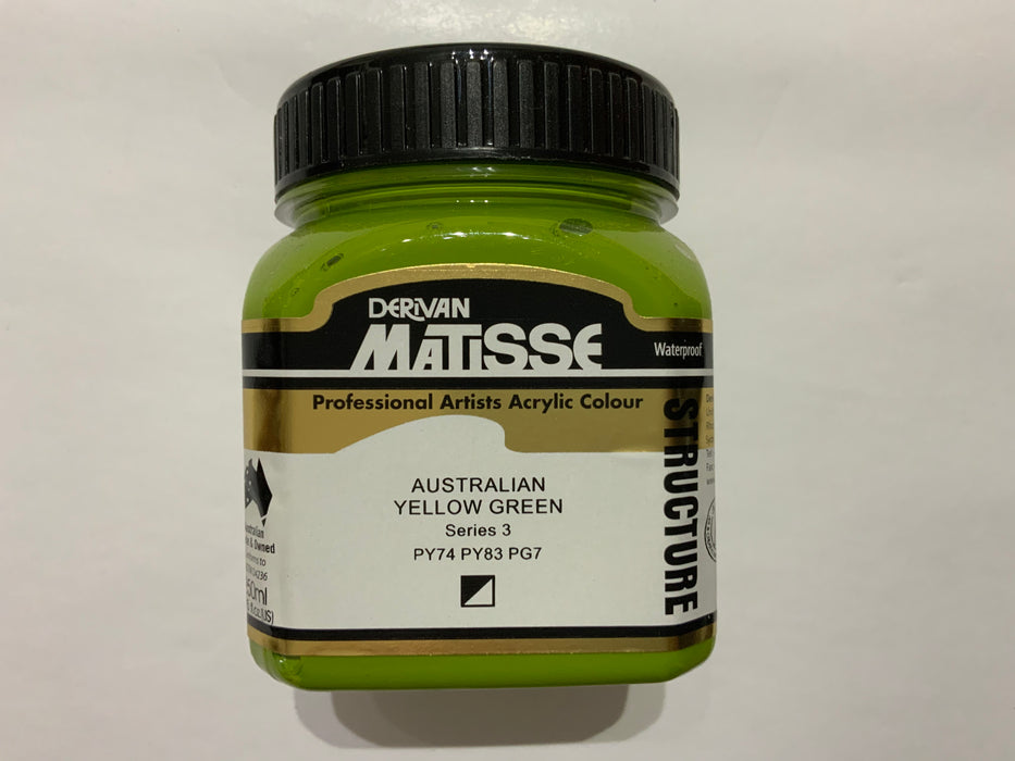 Matisse Acrylic Paint Australian Yellow Green