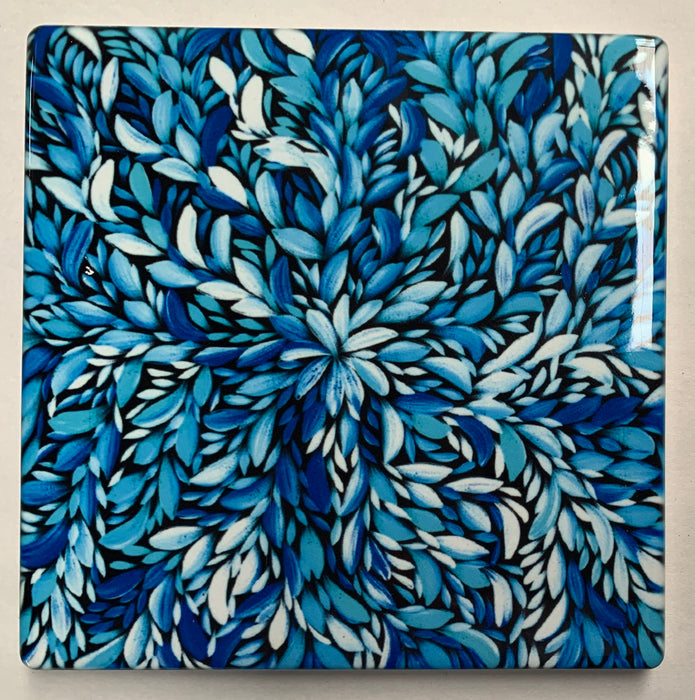 Ceramic Coaster - Louise Numina Blue