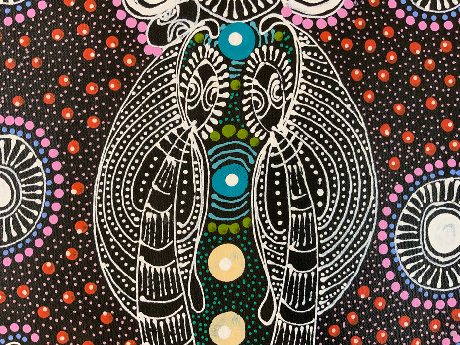 Colleen Wallace Nungarray - Dreamtime Sisters - 30x60cm