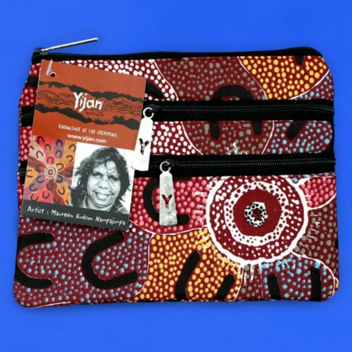 Cosmetic Bag 3 Zip Maureen Hudson