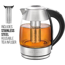 Load image into Gallery viewer, Chefman 1.8 Liter Electric Glass Kettle With Removable Tea Infuser