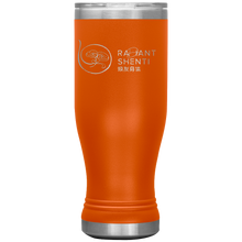 Load image into Gallery viewer, Keep your digestion moving and stay healthy by drinking warm water in Radiant Shenti's Boho 20 oz tumbler. Orange