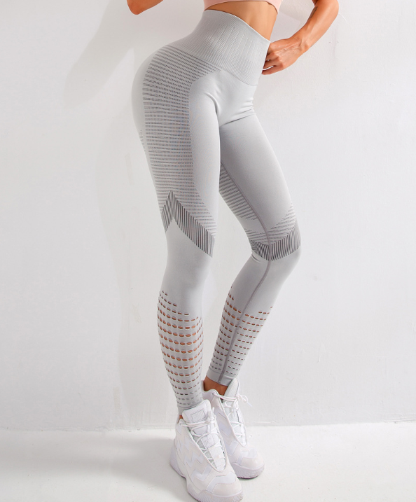 2020 Cross-border New Quick-drying Yoga Pants Double Mesh Sports Fitness Running Leggings Female Spot