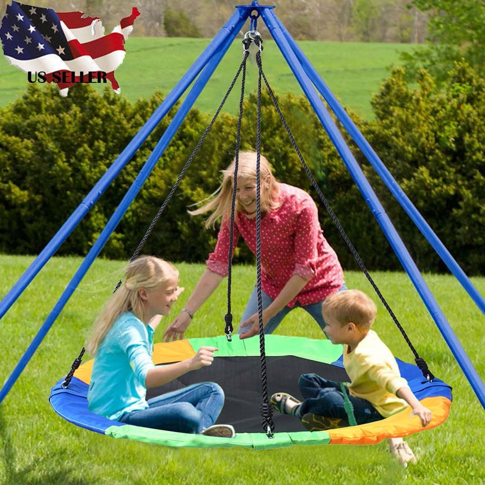 40 Saucer Tree Swing Flying 660lb Multi-Strand Ropes Colorful and Safety Swing
