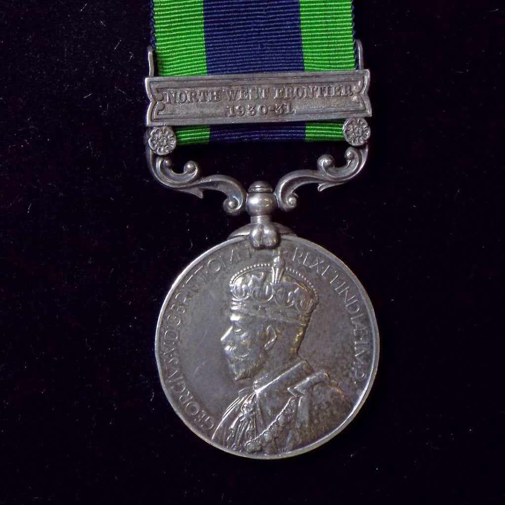 India Medal 1895-1902, 1 clasp: North West Frontier 1930-31. Awarded to Constable Uttam Singh, Police Department - BuyMilitaryMedals.com - 1
