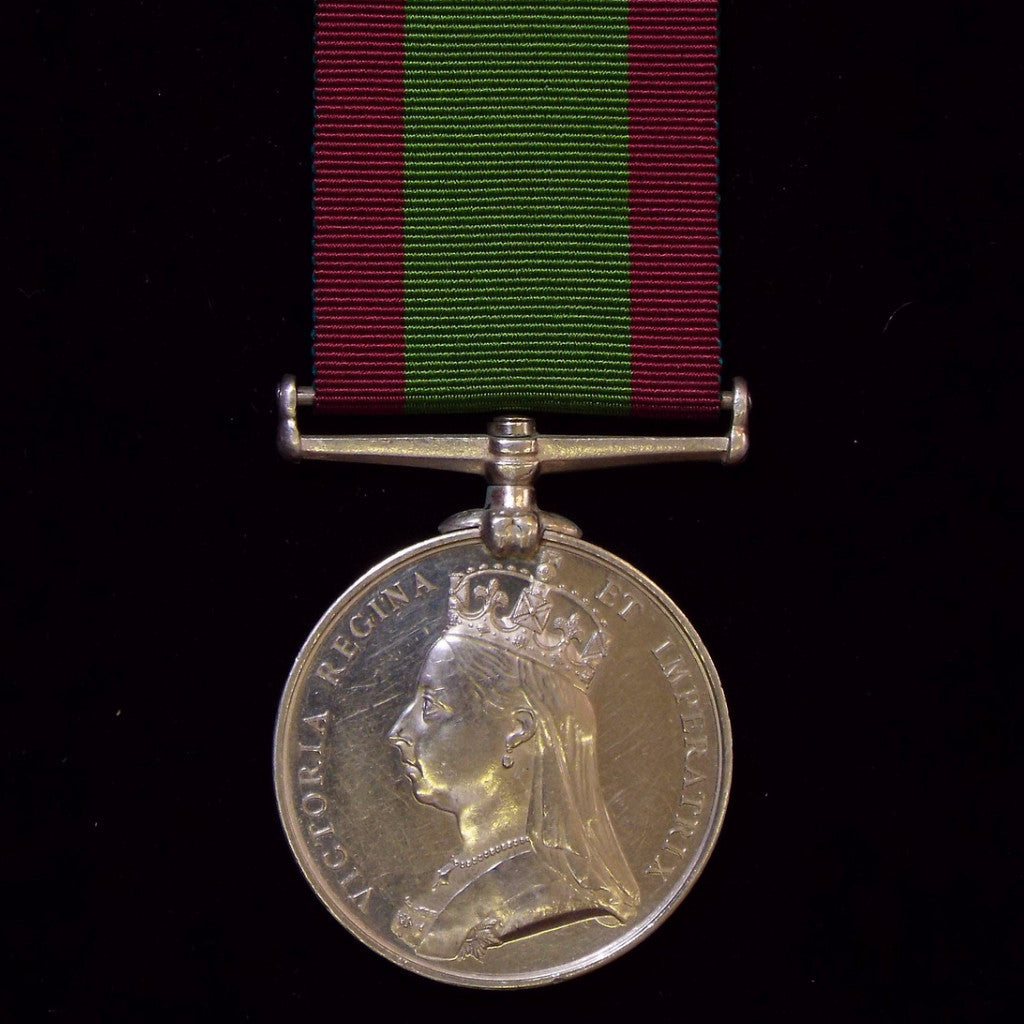 Afghanistan Medal 1878-80, awarded to Pte. E. Maguire, 1/12th Regiment, Suffolk Regiment - BuyMilitaryMedals.com - 1