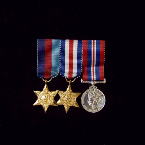 Miniature WW2 group of 3 - BuyMilitaryMedals.com